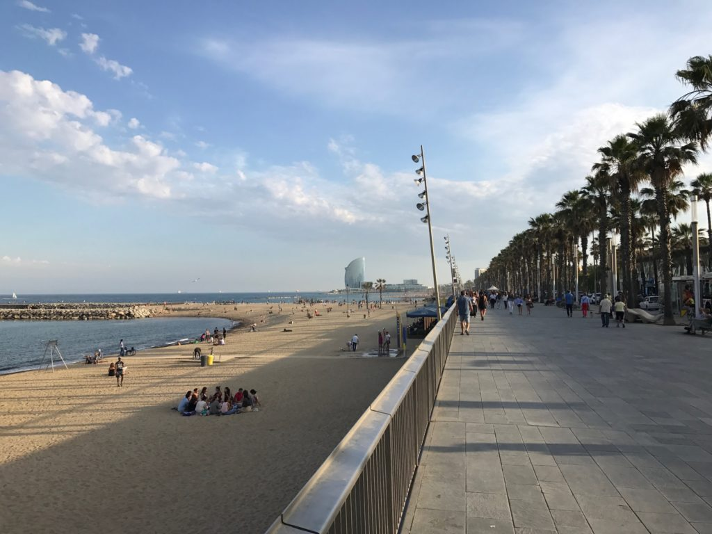 Barcelona's beach is the best place to find paella on a budget