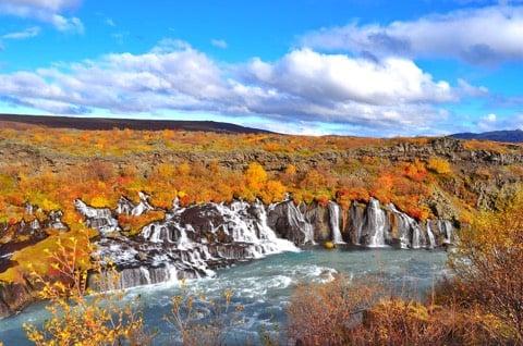 Iceland waterfall Hraunfossar