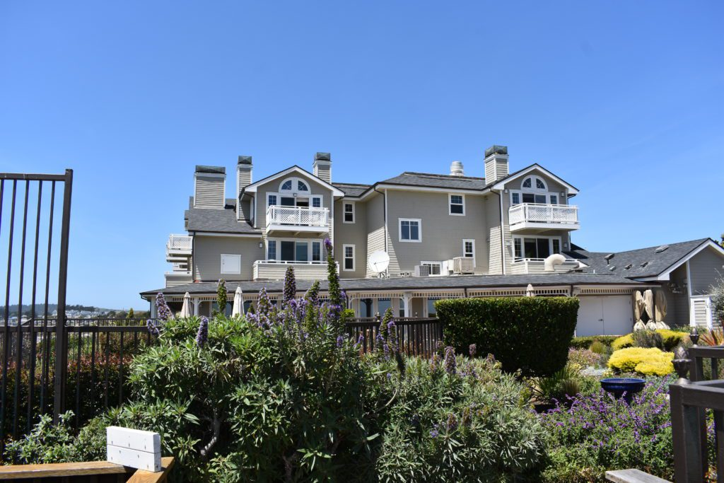 Facade of the Beach House in Half Moon Bay