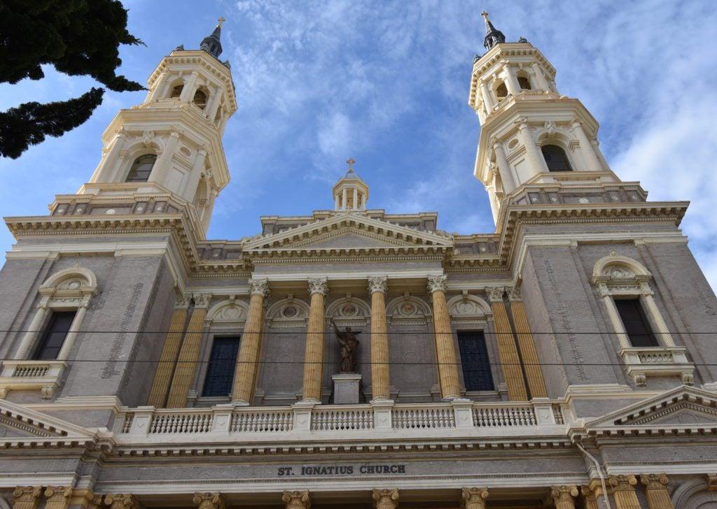 St Ignatius Church in SF near Alamo Square