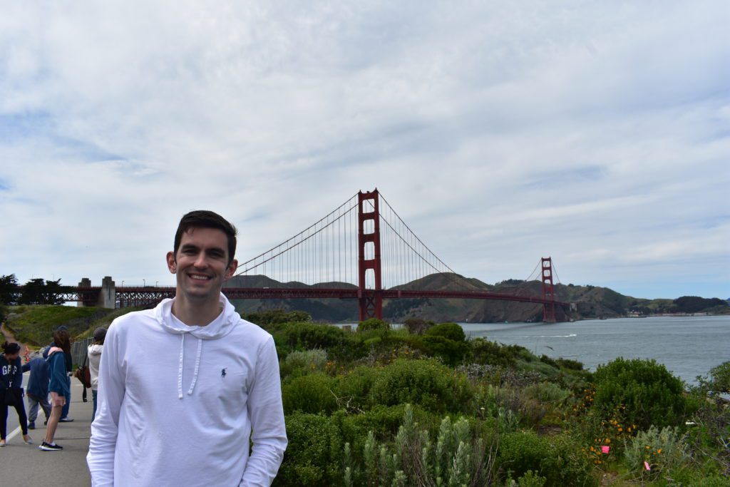 View of the Golden Gate Bridge from the Presidio