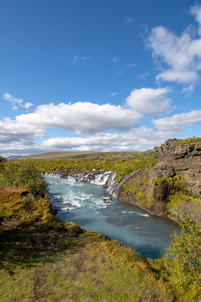 Hraunfossar Lava Falls
