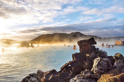 Blue Lagoon is one of the best photo spots in Iceland.