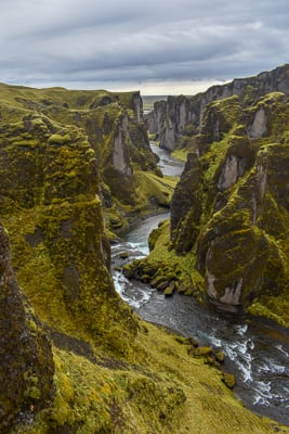 Fjaðrárgljúfur Canyon is one of the best photo and video spots in Iceland.