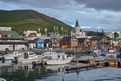 Husavik is one of the best photo spots in Iceland.