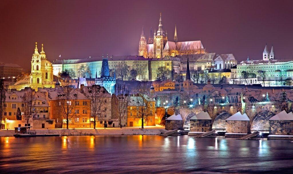 Prague in the wintertime
