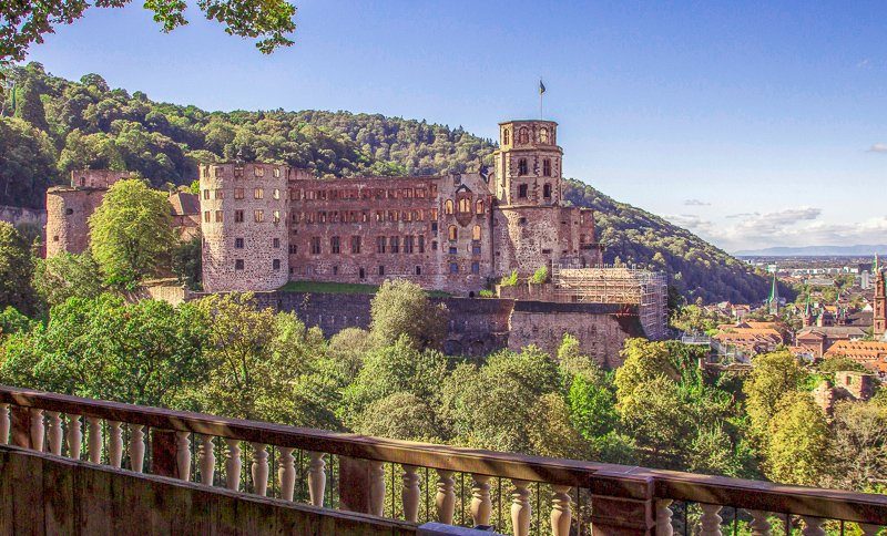 Heidelberg Castle stands tall in one of the nicest and prettiest cities in Europe.