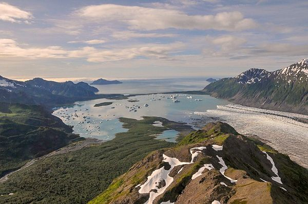 Kenai Fjords National Park in Alaska is one of the cool places to visit in the US.