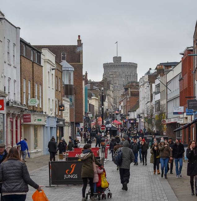 Peascod Street in Windsor