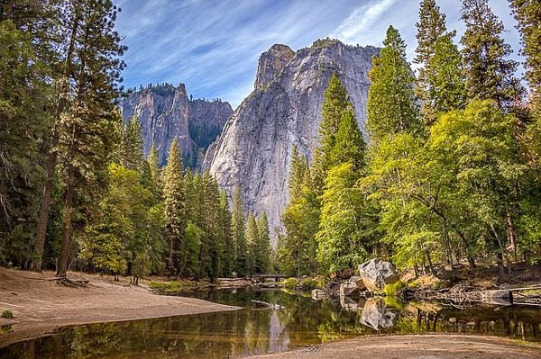 Yosemite National Park in California is one of the cool and unique places in the US.