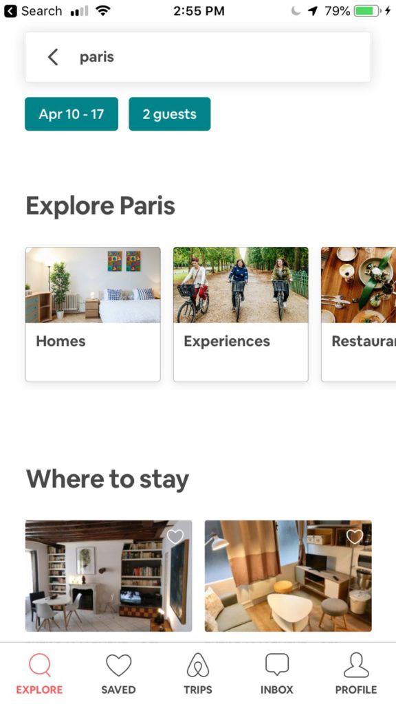 Airbnb is one of the best accommodation booking apps