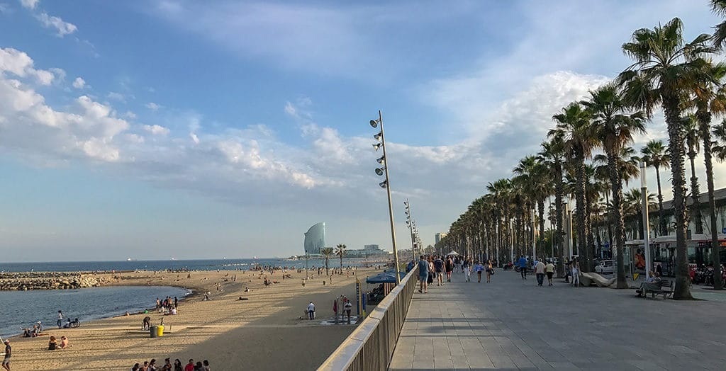 Barceloneta Beach, long weekend in Barcelona