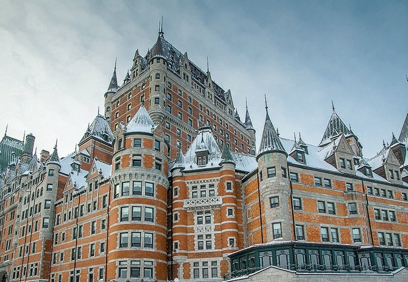 The Fairmont Le Château Frontenac in Quebec City. As this hotel is pretty expensive, staying here is not how to travel cheap.
