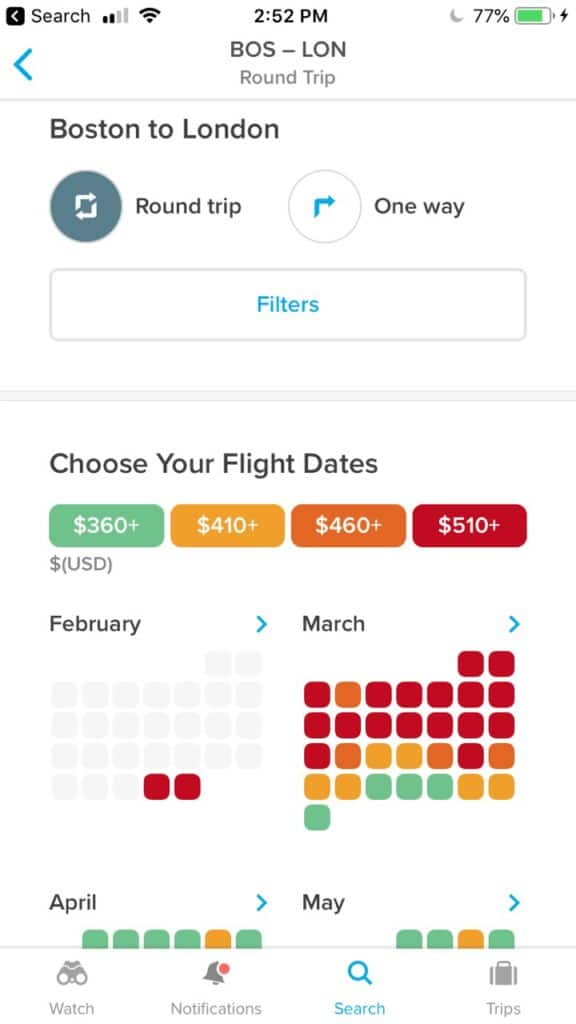 Hopper is a great travel app for booking flights