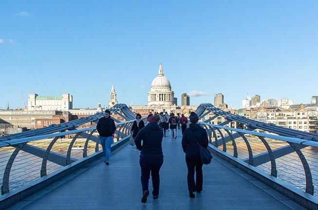 Millennium Bridge in London is one of the best photo spots in the UK.