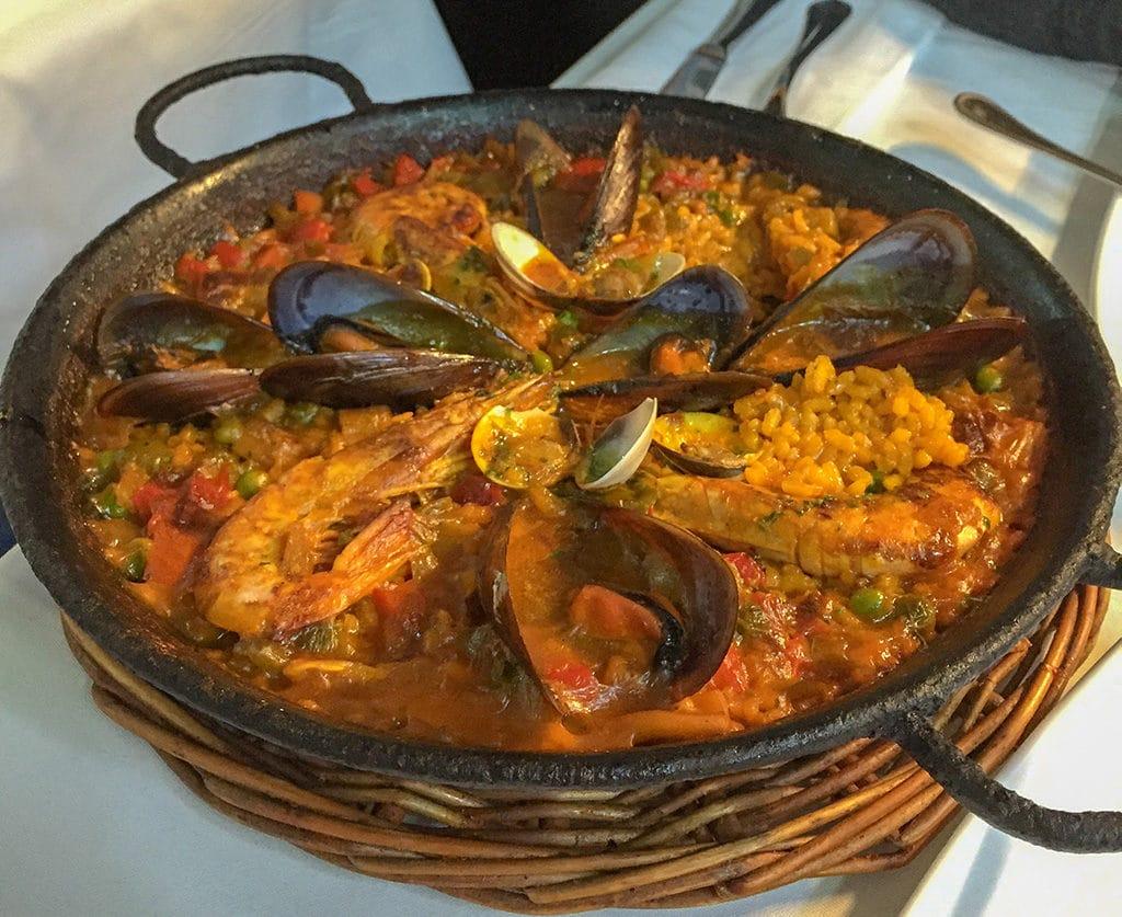 Paella on the Barceloneta