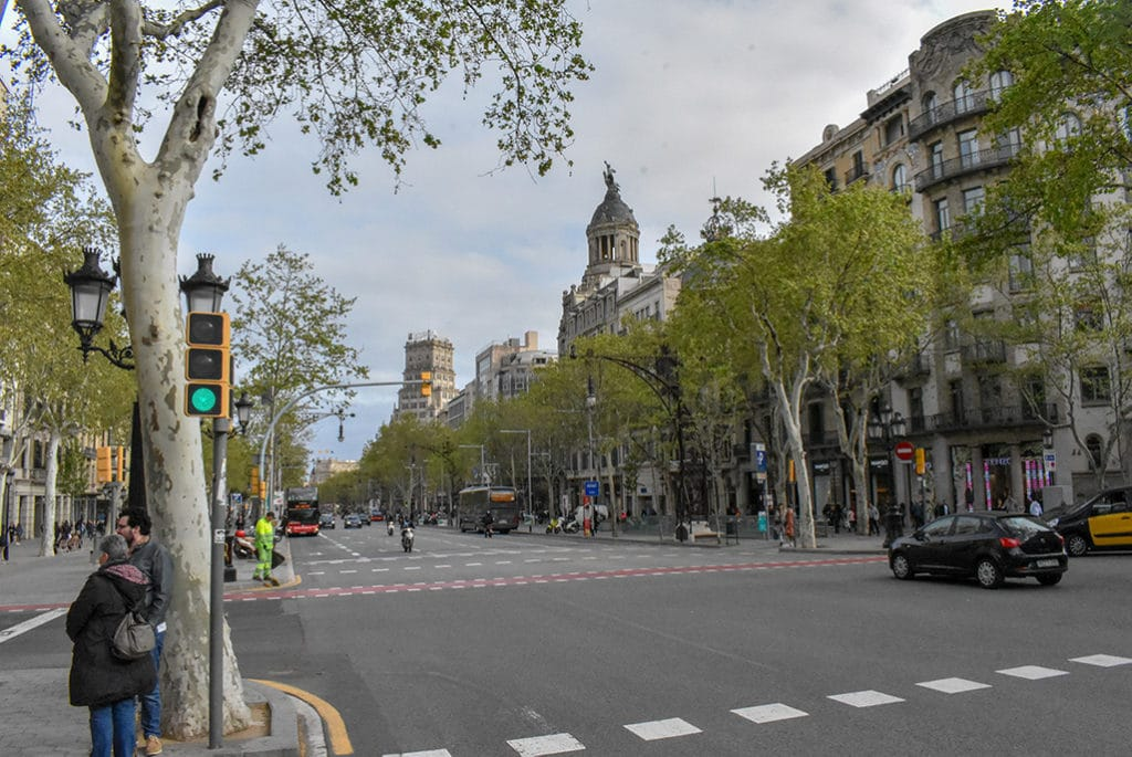 Passeig de Gracia is a great spot during a long weekend itinerary in Barcelona