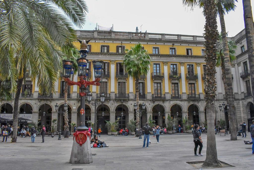 Plaça Reial, long weekend in Barcelona