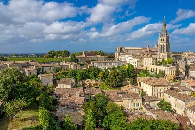 Saint-Émilion is a charming town just northeast of Bordeaux. It's a UNESCO World Heritage Site.