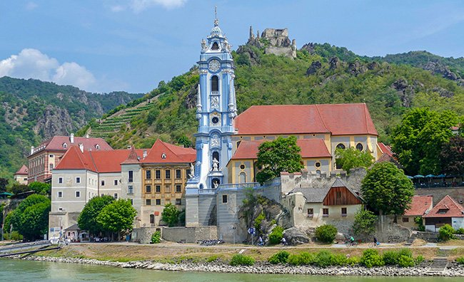 Dürnstein is one of the many beautiful towns you'll encounter along the Danube River in the Wachau Region.
