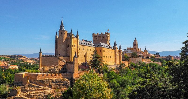 Alcázar of Segovia in central Spain is definitely one of the most beautiful castles in the world