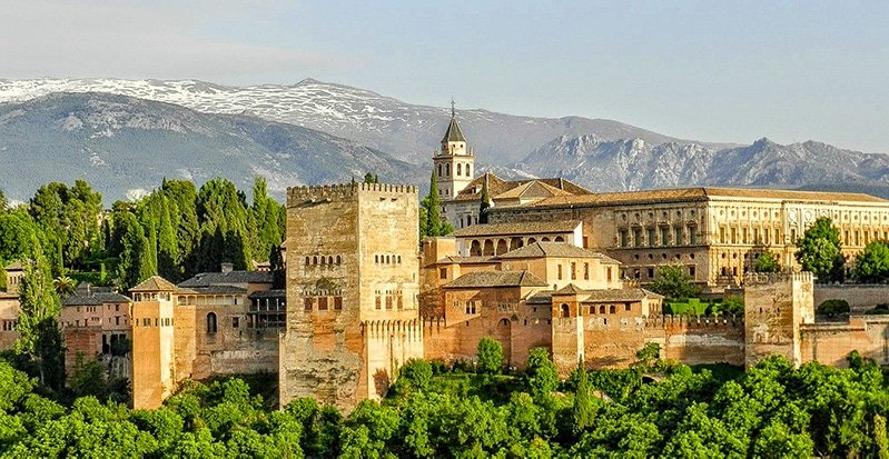 The Alhambra in Granada, Spain is one of the most beautiful castles in Europe.
