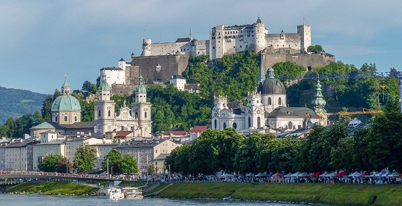 The Hohensalzburg Fortress in Austria