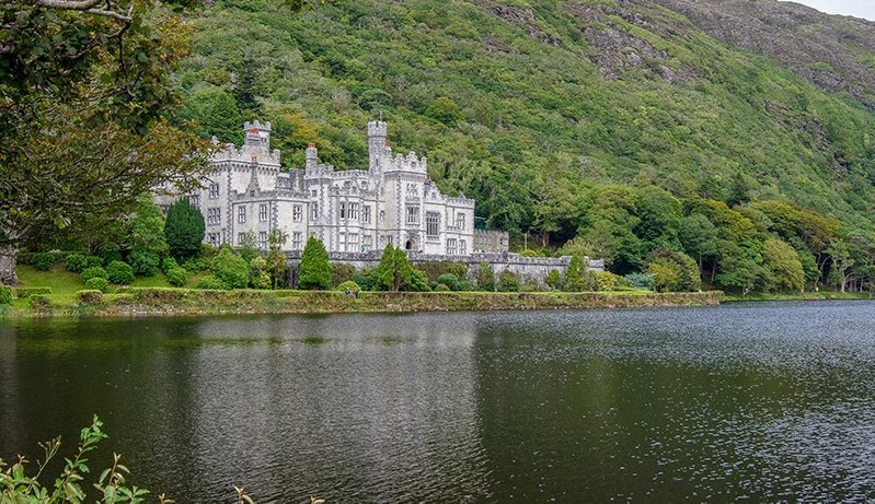 The Kylemore Castle was built in the late 1800s and later founded as a monastery in 1920.