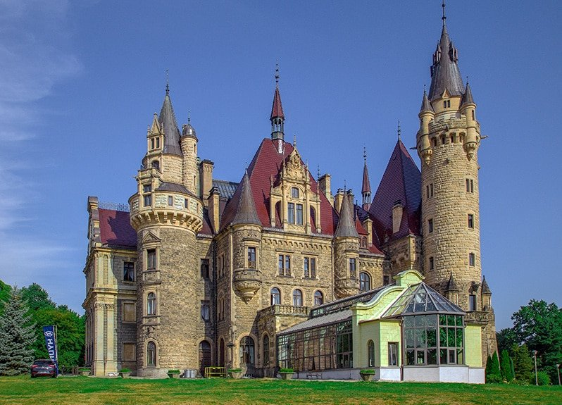 Moszna Castle in Poland is among the magnificent castles in the world