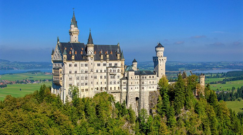Neuschwanstein Castle in Bavaria, Germany, is one of the most beautiful castles in the world