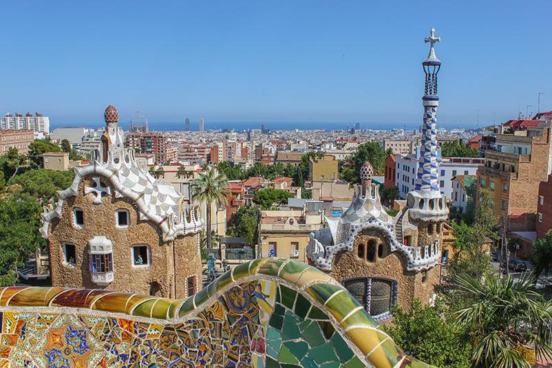 Parc Güell in Barcelona, Spain, is an architectural wonder