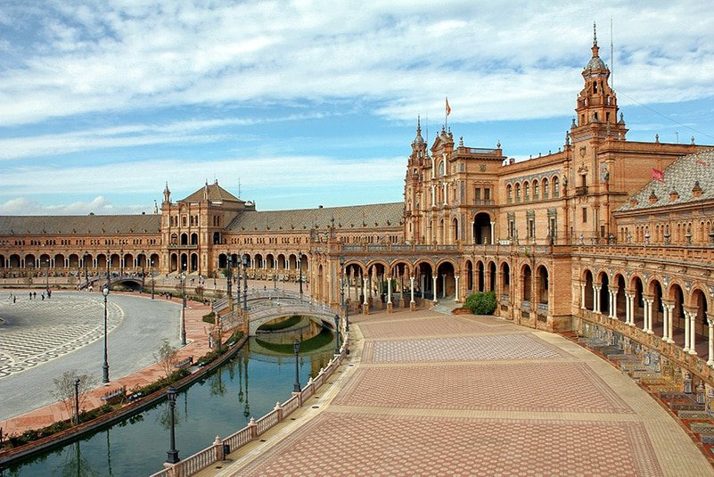 The Plaza de España in Sevilla is one of the most Instagrammable places in Spain