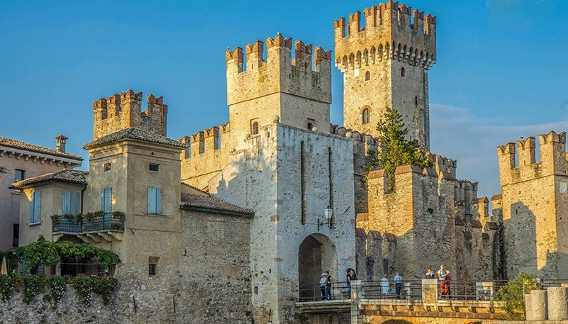 Scaligero Castle is one of the best-preserved castles in Italy and Europe as a whole