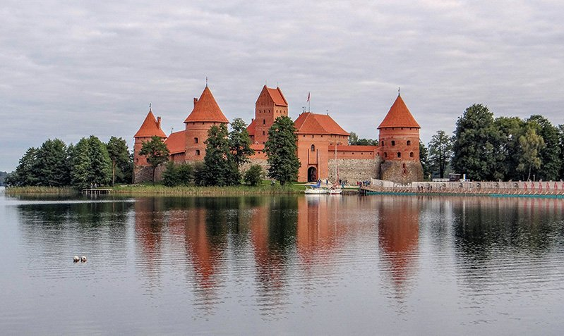 Trakai Island Castle is one of the most popular sights in Lithuania