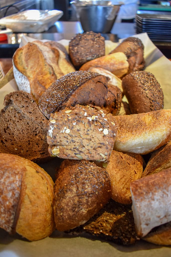 The assortment of breads at the Chedi Muscat was out of this world.
