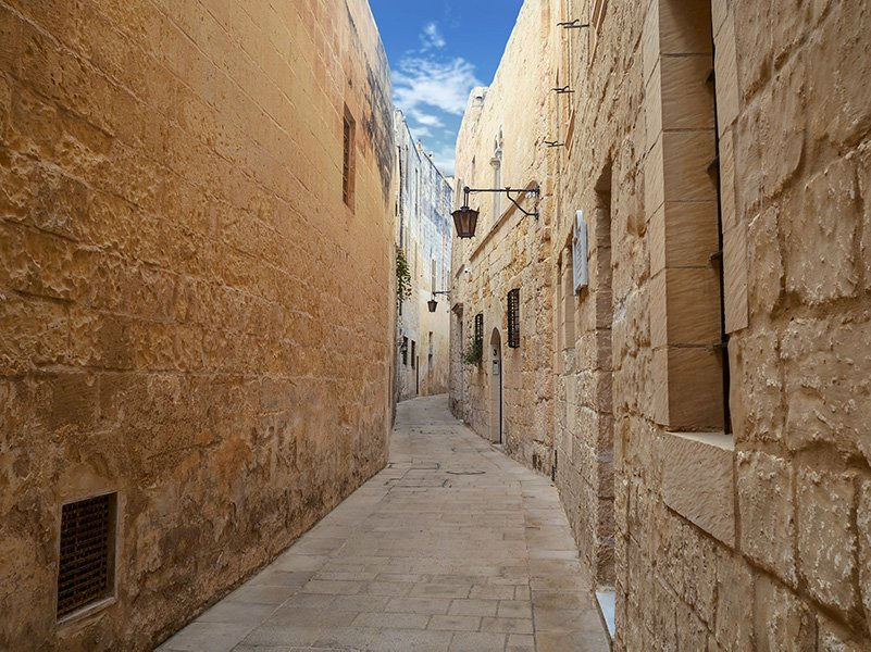 The streets of Mdina, Malta are one of the best unknown places to visit in Europe.