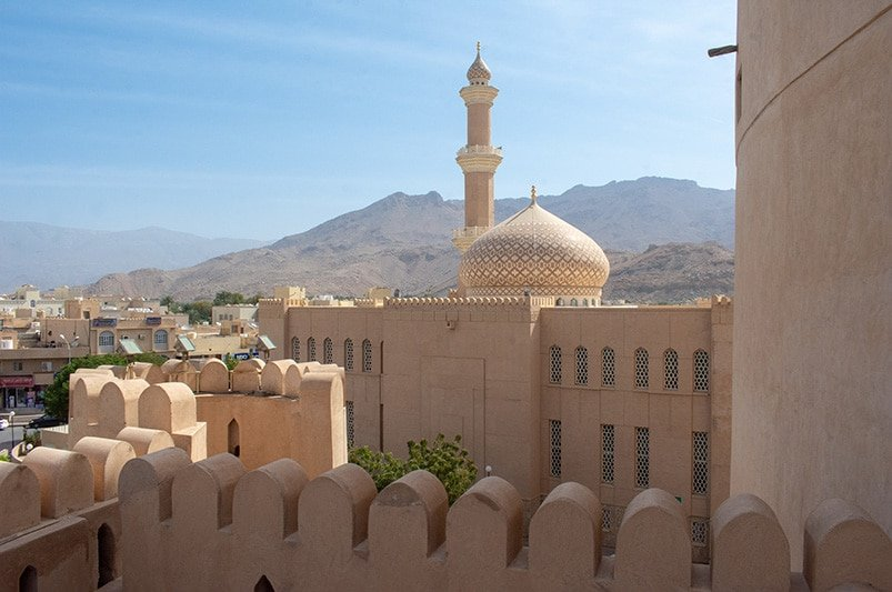 Nizwa Fort in Oman is just a short 1.5-mile drive from Muscat.