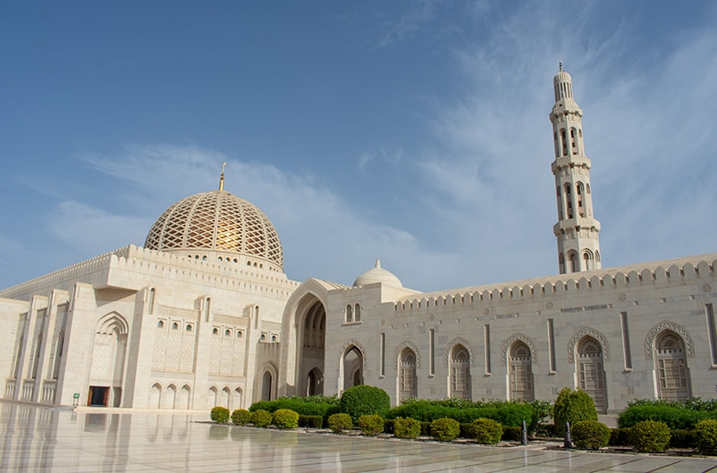 The Sultan Qaboos Grand Mosque is an architectural wonder.