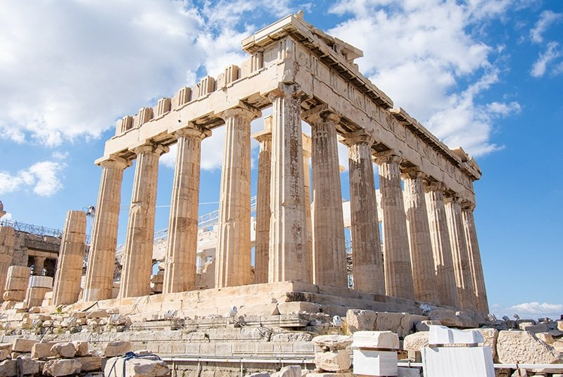 The Parthenon is one of the top sights in Athens, one of the cheapest places to visit in Europe.