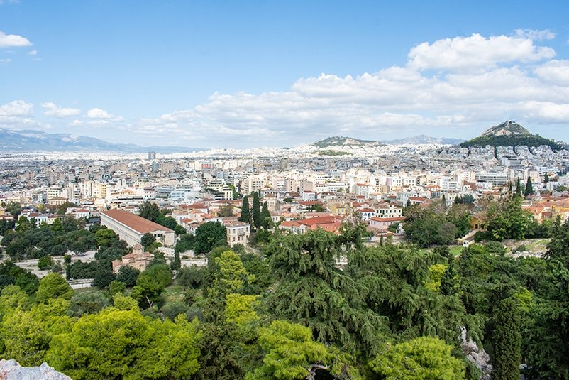 The Acropolis of Athens offers sweeping views of the surrounding city