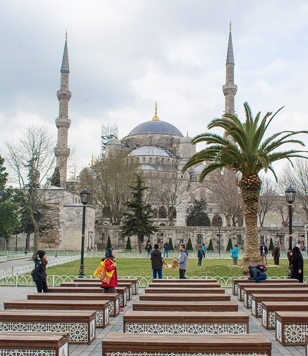 The Blue Mosque is a must-see stop during your layover in Istanbul