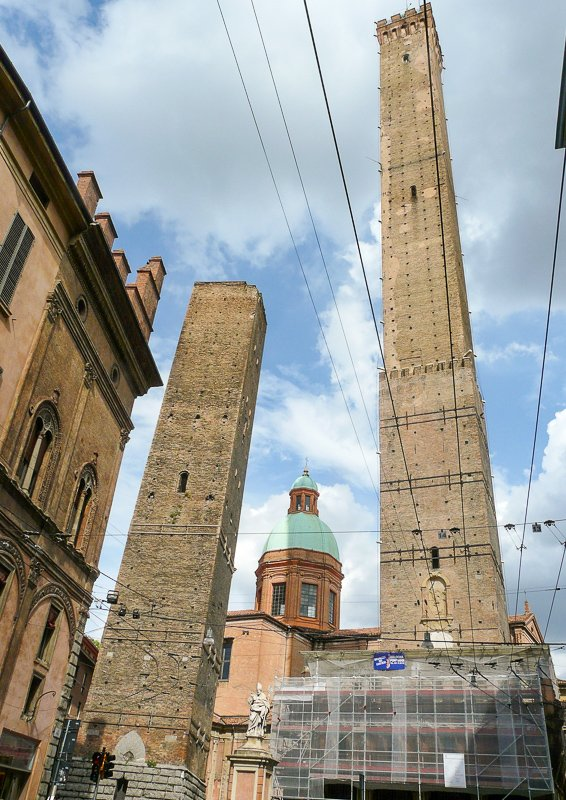 Bologna has a leaning tower of its own