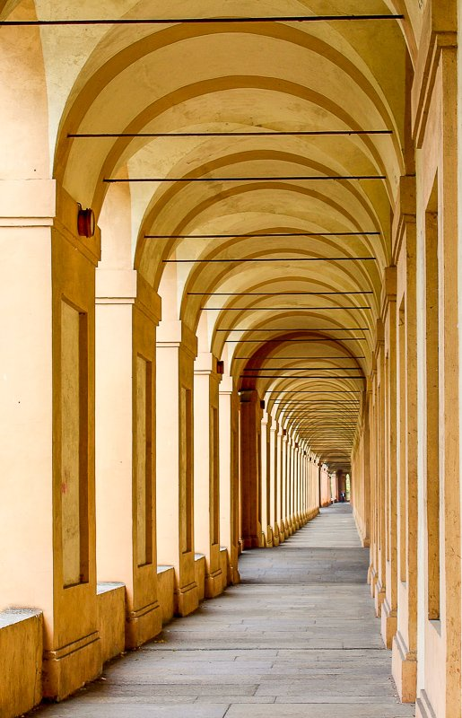 Bologna is known for its quaint and quiet passages