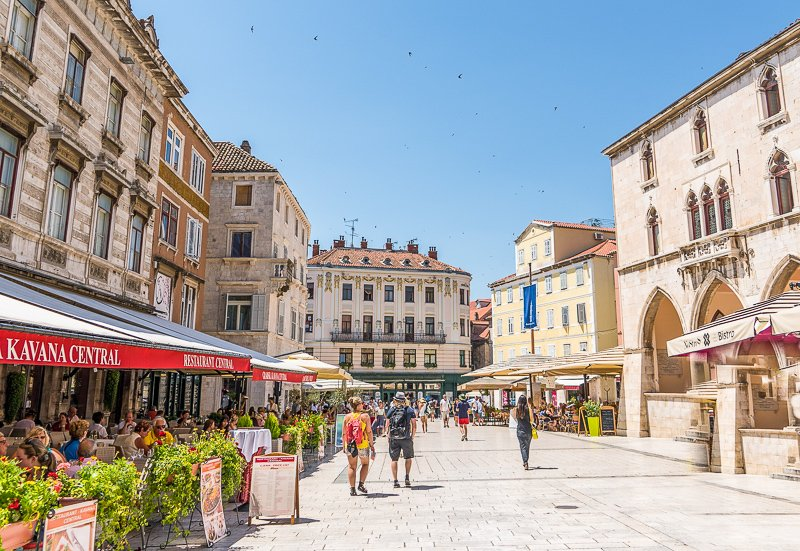 Diocletian's Palace is a stunning sight in the heart of Split, Croatia
