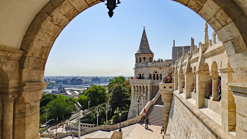 Fisherman's Bastion is one of the top sights in Budapest and resembles a castle. It's among the cheapest places to travel in Europe.
