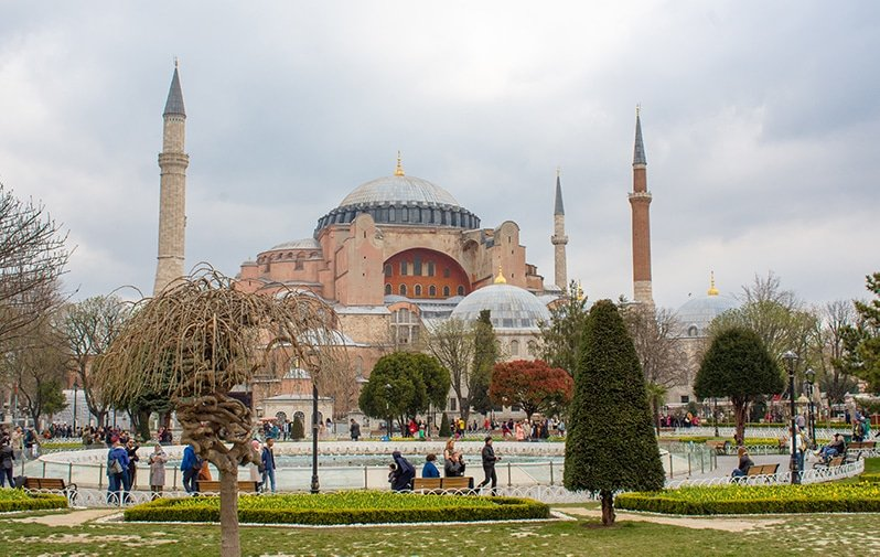 The Hagia Sophia is the top sight you should see during your layover in Istanbul