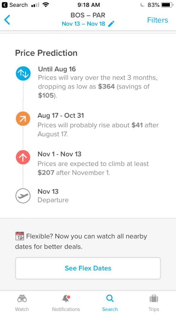 Hopper Price Predictions and Recommendations are very helpful for saving money on flights