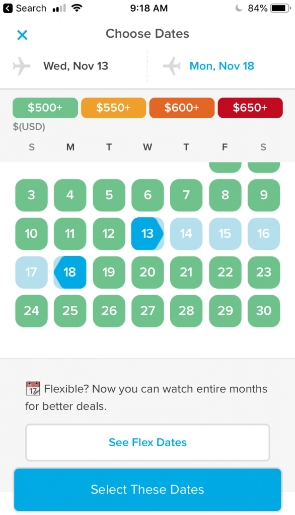 One of the best travel hacks for flying is using Hopper price alerts