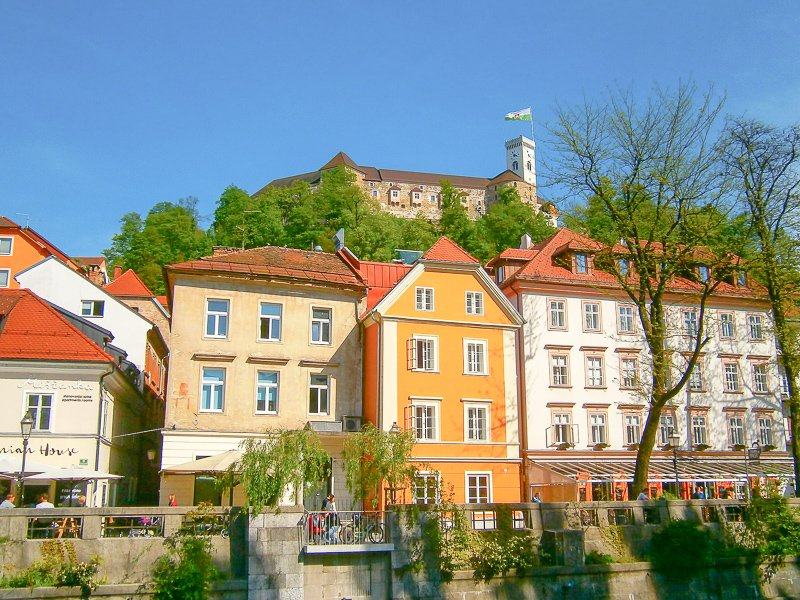 Ljubljana Castle is a scenic sight in the heart of Ljubljana, which is among the cheapest and most fascinating cities in Europe
