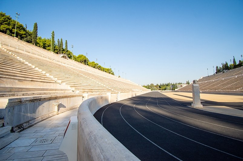 The Panathenaic Stadium was the site of two Olympic games. It's definitely among the cheapest places to travel in Europe.